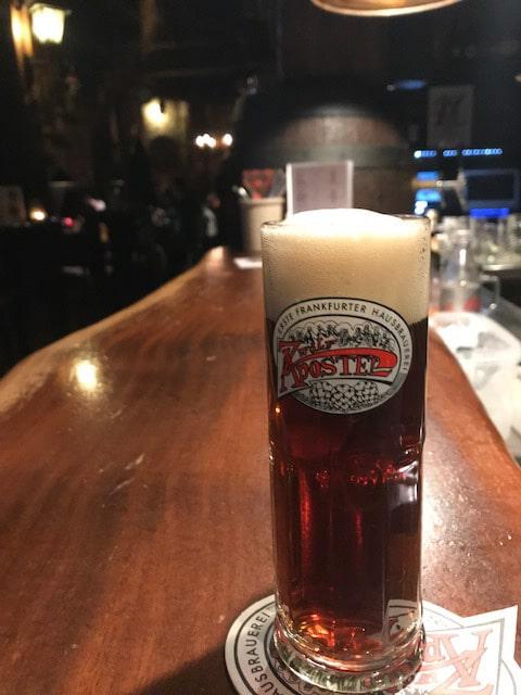フランクフルトの美味しいビール