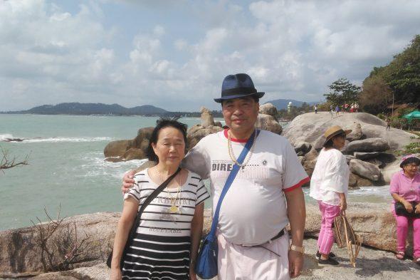 夫婦ともども初のサムイ島