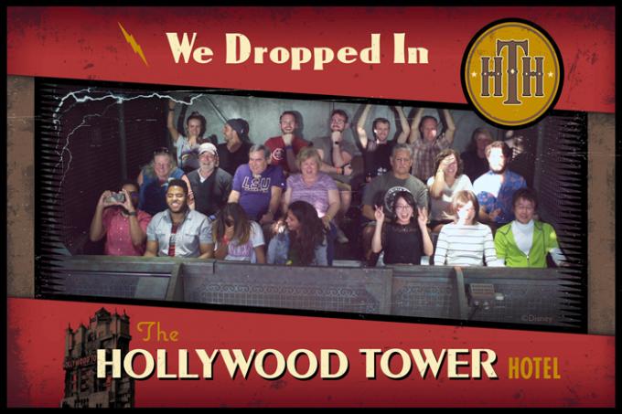 「トワイライトゾーン・タワー・オブ・テラー」の記念写真