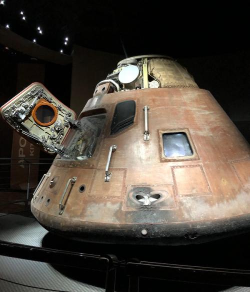 歴史を感じる実物の「アポロ14号」