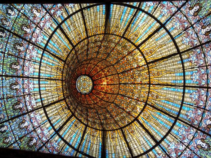 カタルーニャ音楽堂 美しすぎる天井