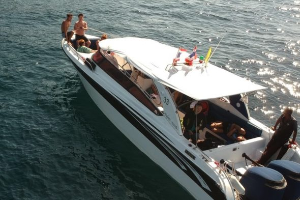 ボートでわいわい