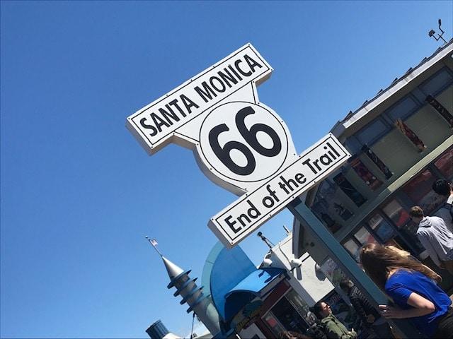 サンタモニカ「ルート66の看板」
