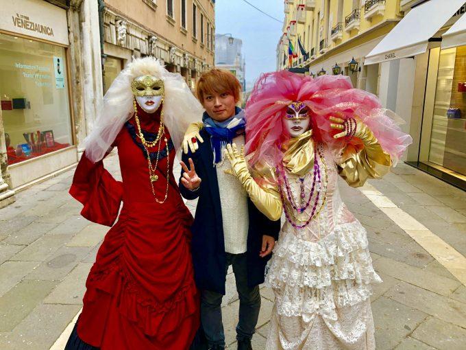 ベネチアの人達と