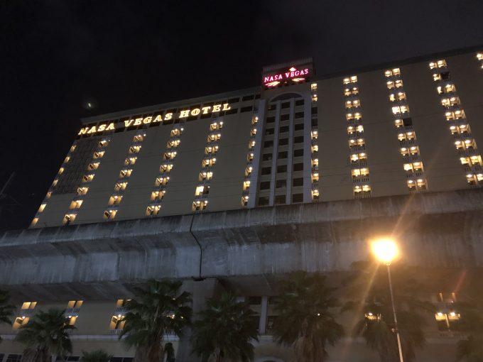 とても大きいホテルの外観