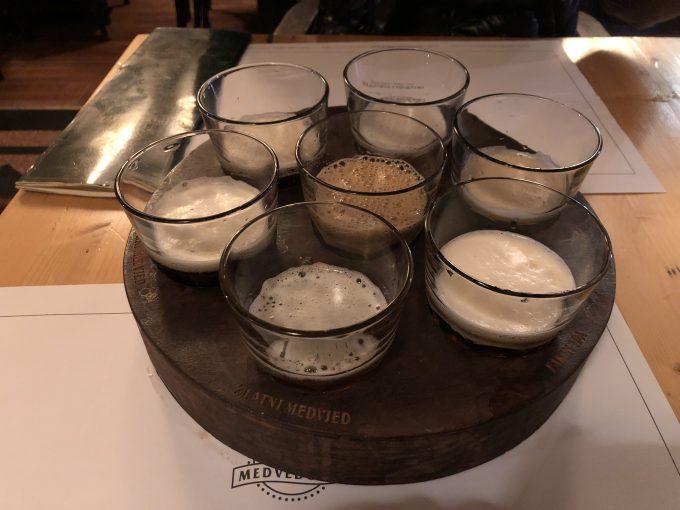 クラフトビール7種類の飲み比べ