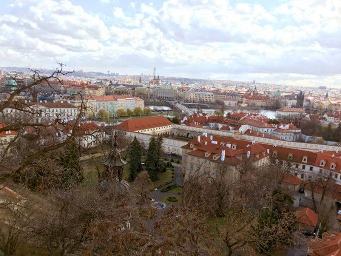 「プラハ城」からの景色