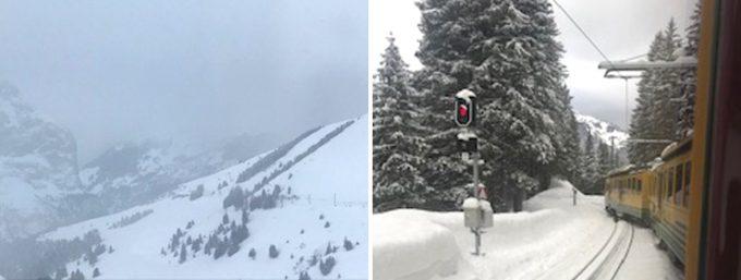 山岳地帯には雪がたっぷり積もっています