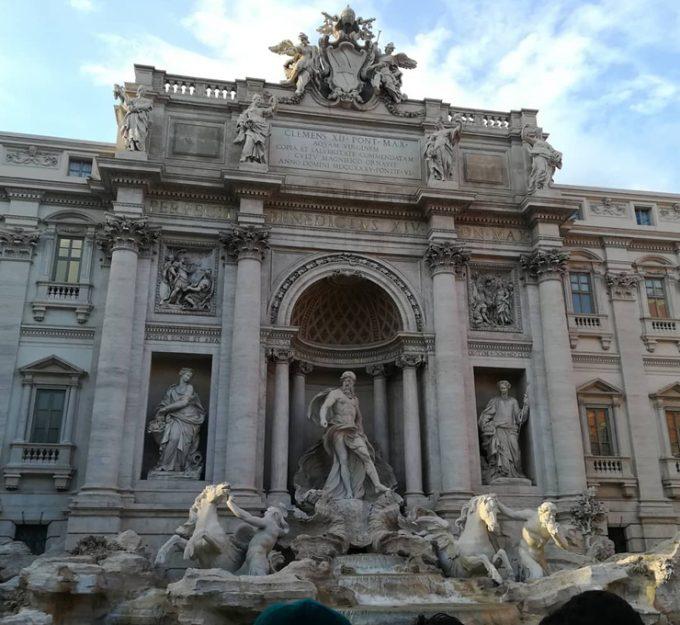 ローマに来たのを実感!「トレビの泉」