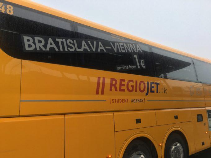 スロバキア移動で利用したバス「レギオジェット(regiojet)」