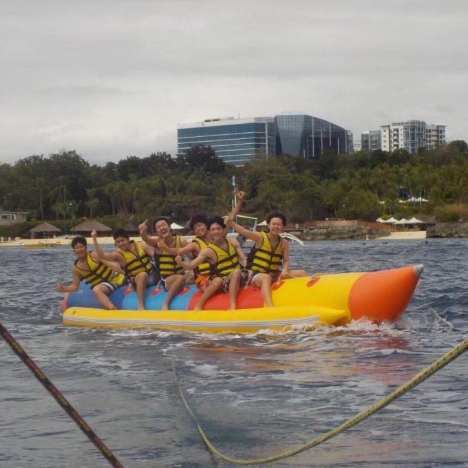 みんなでバナナボート!