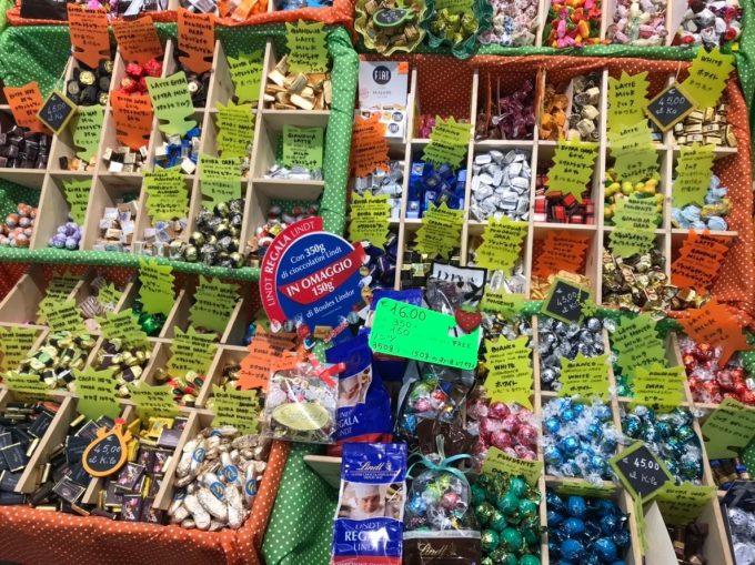 フィレンツェ中央市場にあるチョコレート屋さん