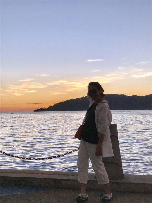 コタキナバル海岸通りの夕日