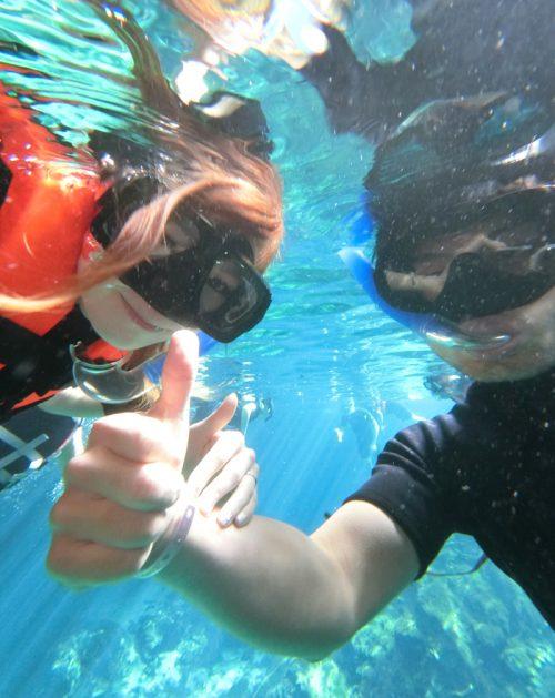 水の中で記念撮影!