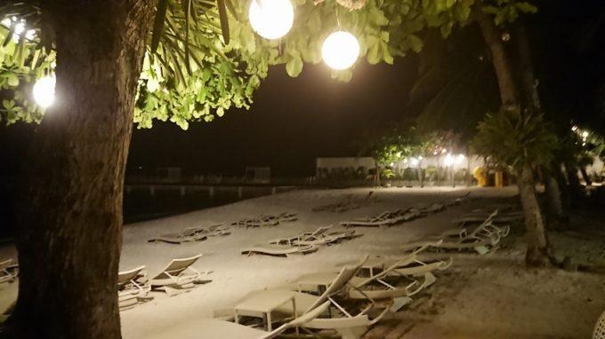 ホテル内のビーチ