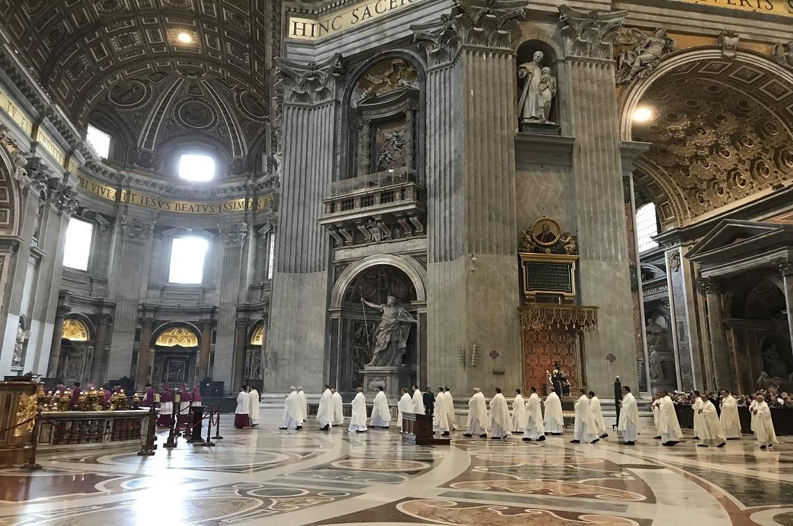 ローマ「サン・ピエトロ大聖堂」にて 日曜日のミサに遭遇