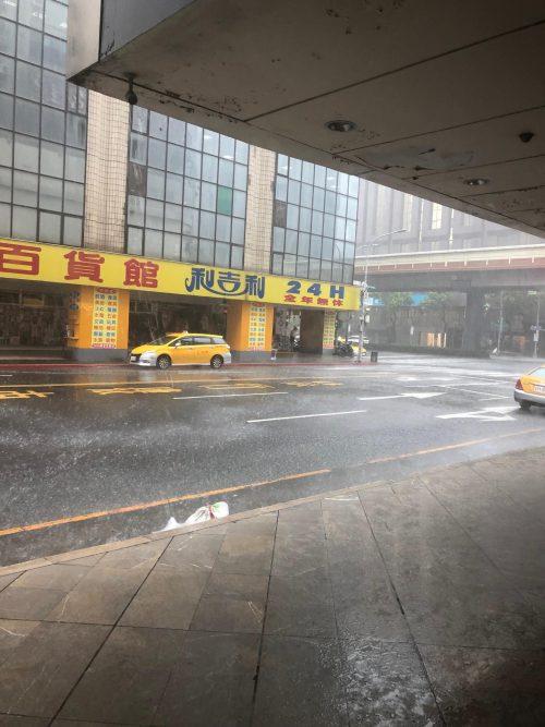突然の大雨&停電