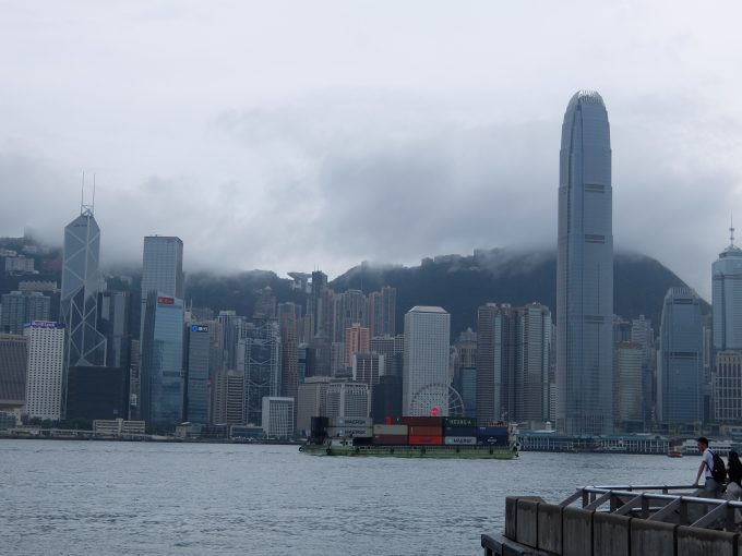 香港島の方面の景色