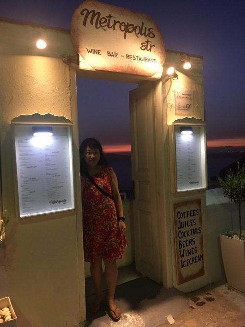 サントリーニ島でサンセットが見えるご飯屋さん「メトロポリス」