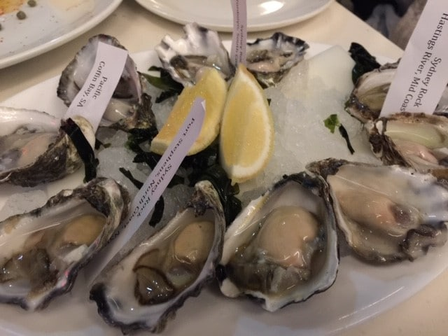 生岩牡蠣を食べました