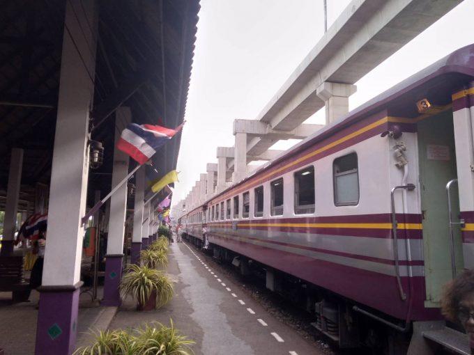 空港→バンコク中心部までの国鉄