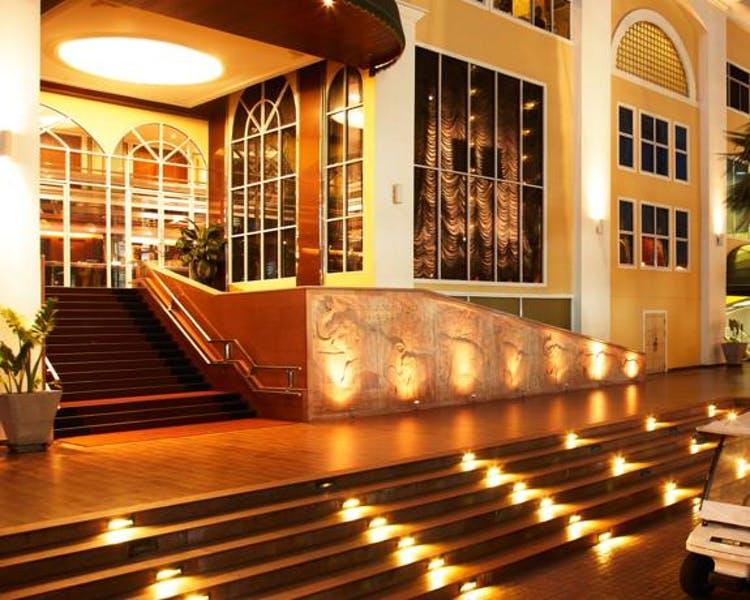 ナサベガスホテルのエントランス