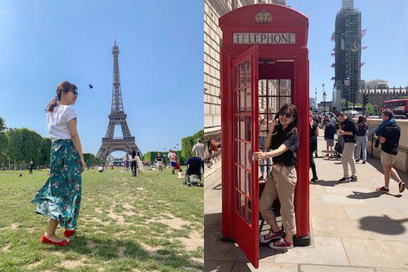 エッフェル塔とお洒落!ロンドン市内の公衆電話BOX