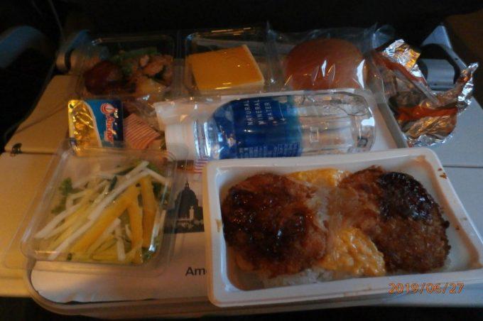 往路機内食のかつ丼