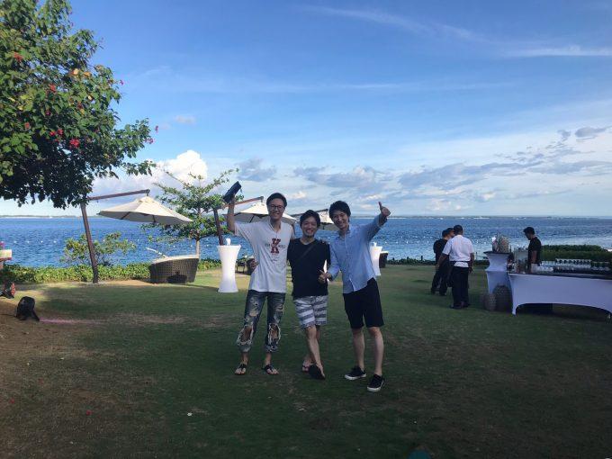 セブ島で記念撮影
