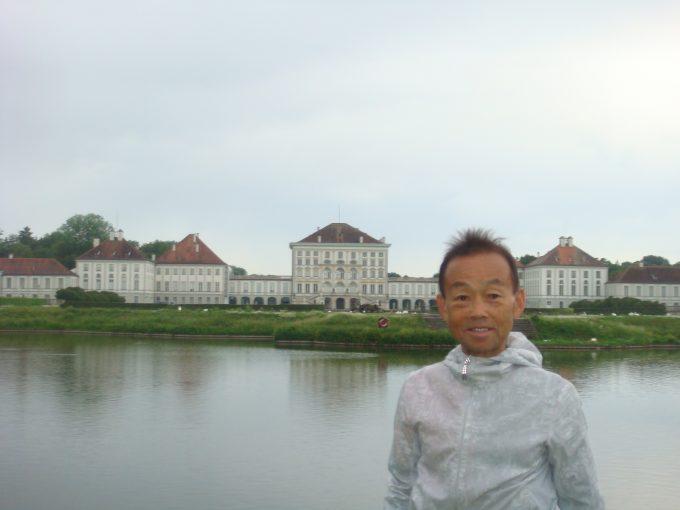 ニンフェンブルク城までランニング