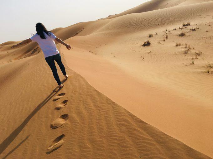 ドバイ・砂漠ツアーにて