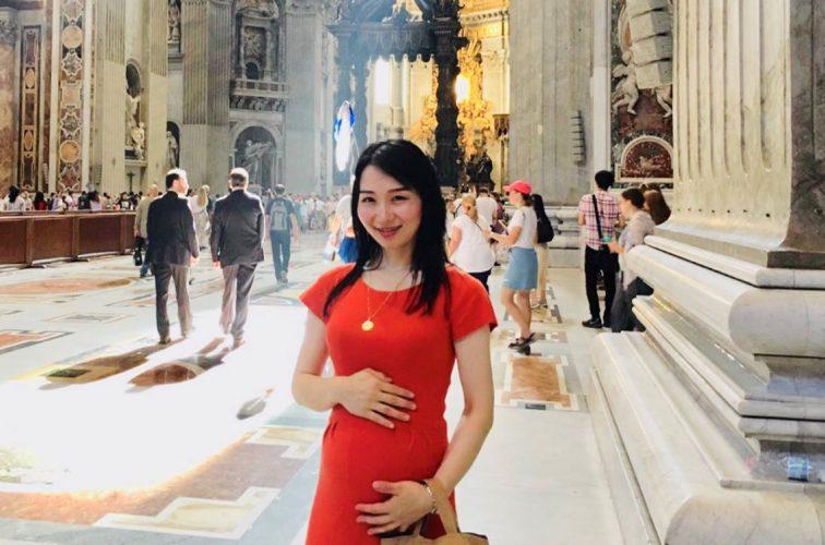 バチカンのサン・ピエトロ大聖堂にて