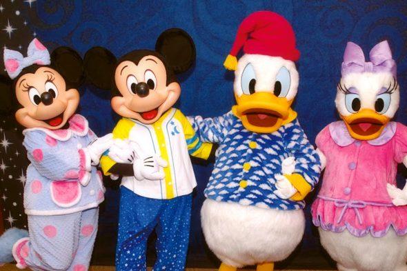 パジャマ姿の4大人気キャラクターに会えました!