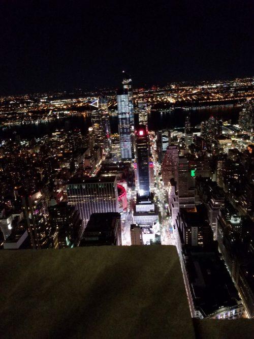 エンパイアステートビルの夜景