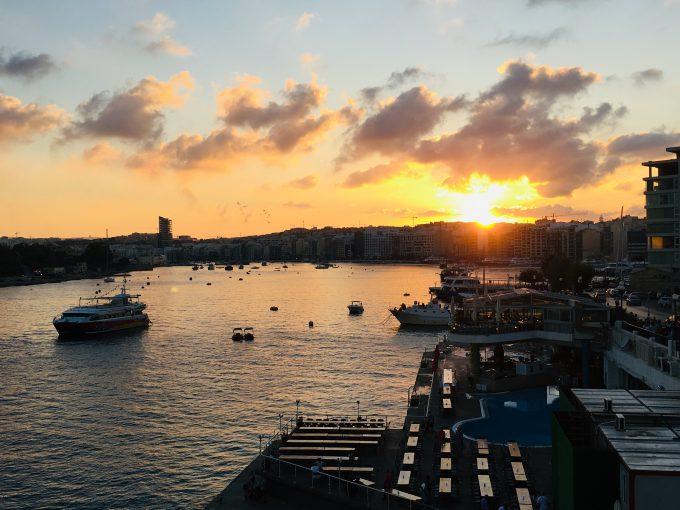マルタ島での夕陽