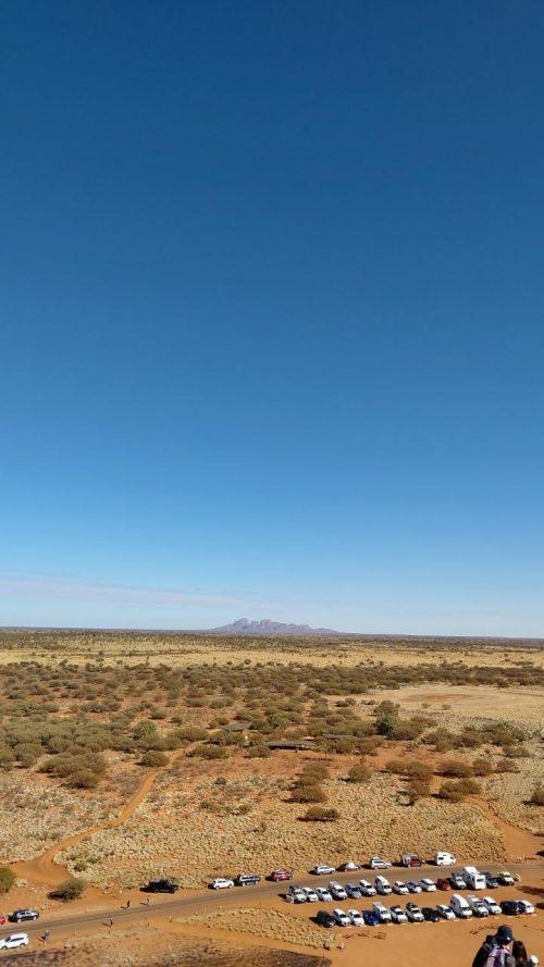 エアーズロック登山道からの眺望