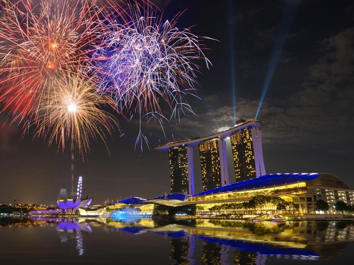 【シンガポール旅行】夜のマリーナベイサンズ