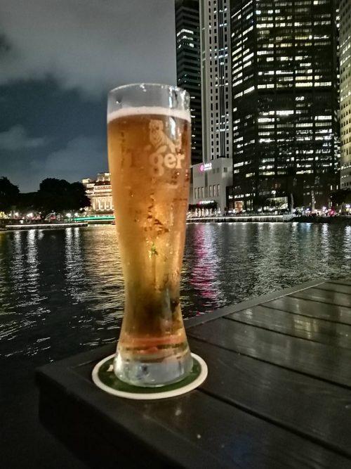 リバーサイドでのビールは美味しかった!