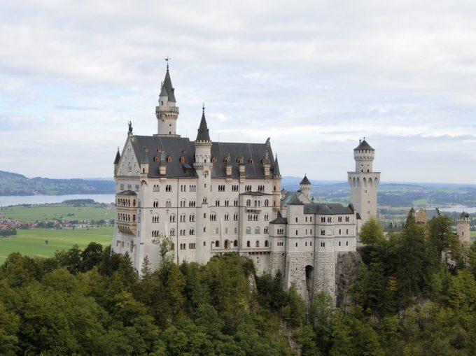 念願のノイシュバンシュタイン城!天気もよくて最高でした