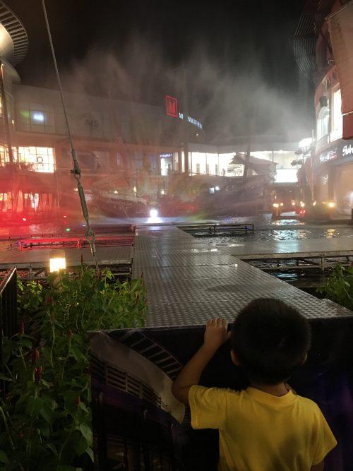 ジャンクセイロンでの噴水ショーをやっていたときの写真