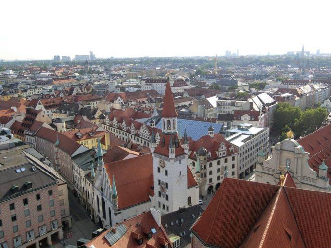 聖ペーター教会 展望台から眺めたミュンヘンの街並み