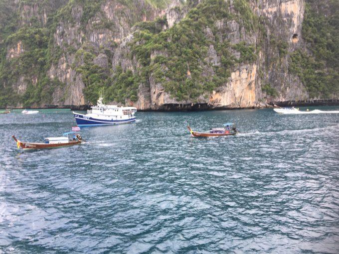 ピピ・レ島の船上観光で撮った写真