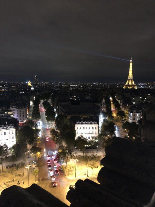 パリ 凱旋門の頂上にて
