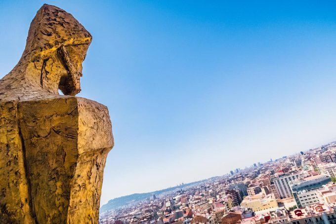 サグラダファミリア から見渡すバルセロナの街並み