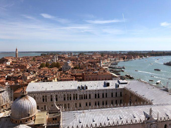 「サン・マルコ寺院」から見下ろすベネチアの街並み