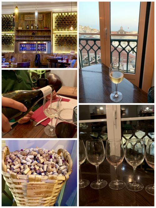 ポルトガル最後のディナーは「タージデ・ワイン&タパス・バー」にて 夕日を眺めながら優雅にワインを