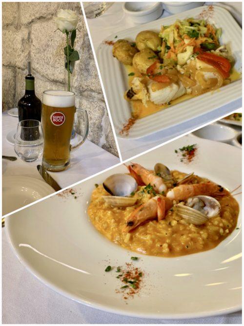 夕飯はレストラン「ジンジャ」で。海鮮リゾットとバカリャウのポワレは大正解!