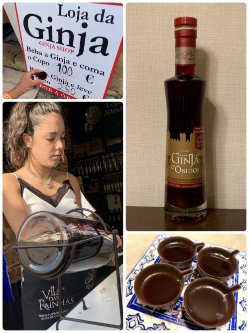 ジンジャ(サクランボの果実酒)をチョコレートのミニカップ
