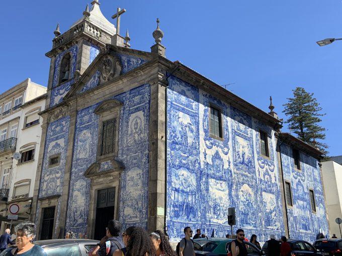 アズレージョで有名なアルマス礼拝堂