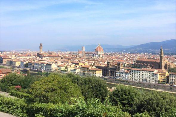 フィレンツェ ミケランジェロ広場からの景色